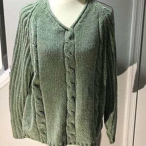 80's retro velour sweater